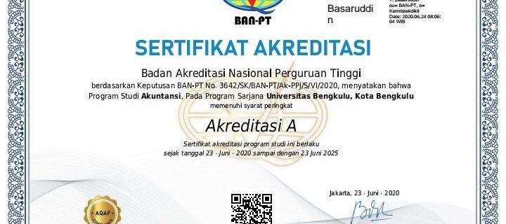 Akuntansi Kembali meraih Akreditasi A dari BAN PT